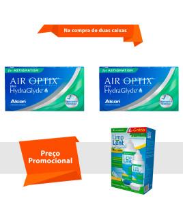 Air Optix Plus HydraGlayde para Astigmatismo com Limp Lent