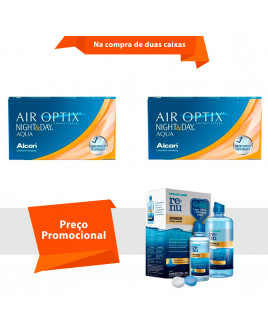 Air Optix Night & Day Aqua com Renu Advanced