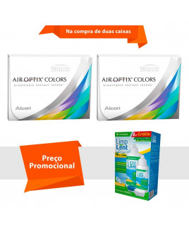 Air Optix Colors sem Grau com Limp Lent