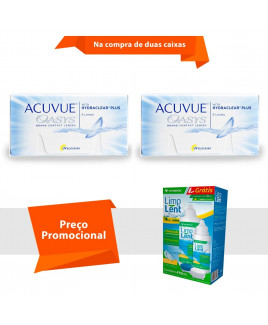 Acuvue Oasys com Hydraclear Plus com Limp Lent
