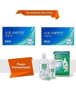 Air Optix Aqua com Opti Free