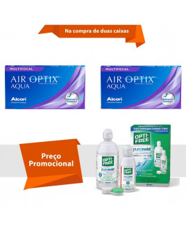 Air Optix Aqua Multifocal com Opti Free