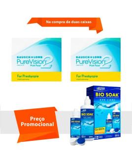Purevision 2 Multifocal para Presbiopia com Bio Soak