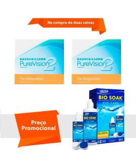 Purevision 2 para Astigmatismo com Bio Soak