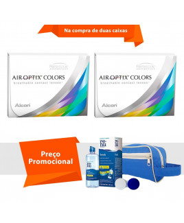 Air Optix Colors com Grau e Kit Renu Fresh