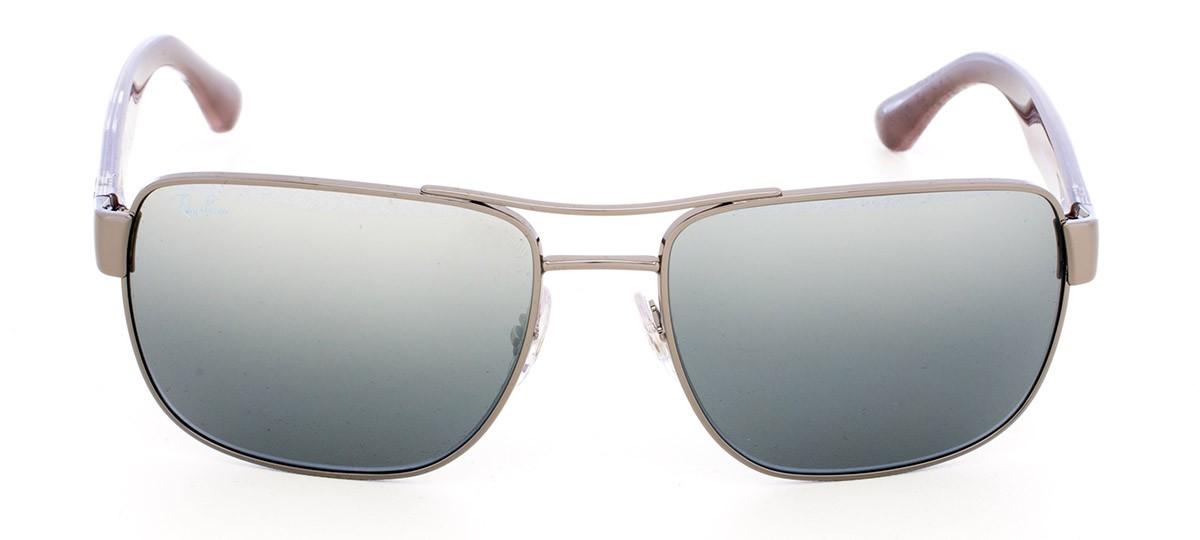 d47b21415 Óculos de Sol Ray-Ban Highstreet RB 3530 Espelhada Cinza Degradê Prata e  Grafite 58 | Viallure Lentes e Óculos