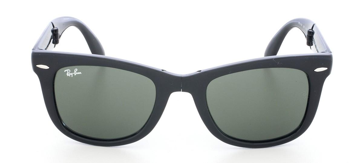 7b9cf0fe1 Óculos de Sol Ray-Ban Wayfarer Folding RB 4105 Preto brilho com Lentes G15  54 | Viallure Lentes e Óculos