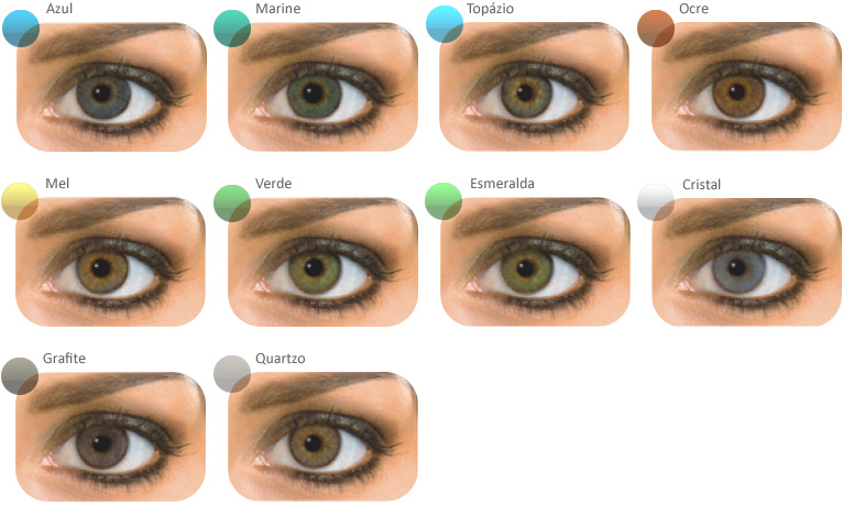 cores olhos pretos com natural colors - Solotica Natural Color